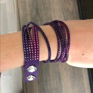 Swarovski Crystal Purple Wraparound Bracelet
